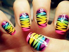 uñas decoradas en agua - Water nail design