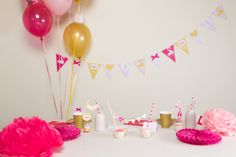 1000 Images About Anniversaire B B Fille 1 An On Pinterest Bebe Decoration And Ballon D 39 Or
