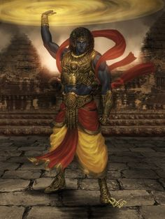 illustrations of Indian gods that will blow away your mind - Kesava
