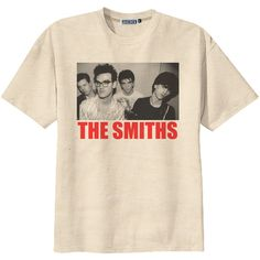 Retro The Smiths Punk Rock T-Shirt Tee Organic Cotton Vintage Look... (89 DKK) ❤ liked on Polyvore featuring tops, t-shirts, shirts, band tees, graphic design t shirts, ripped shirt, tee-shirt, distressed t shirt and distressed shirt