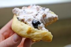 Home Made Blueberry Scones with Blueberry Chevre (recipe in link)