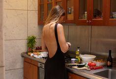open back - simple dress