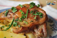 Pulpe de Rata la Cuptor cu Lamaie, Usturoi si Cartofi