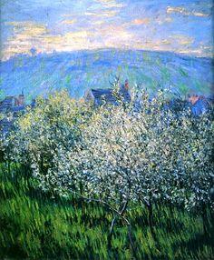 Claude Monet. Plum Blossoms (1879).