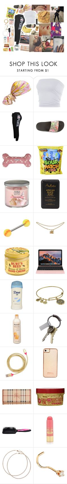 """""""kaidyn"""" by cle0trappa ❤ liked on Polyvore featuring Emilio Pucci, Victoria's Secret PINK, Gucci, Mutts & Hounds, Yankee Candle, SheaMoisture, LIST, Burt's Bees, Carmex and Alex and Ani"""