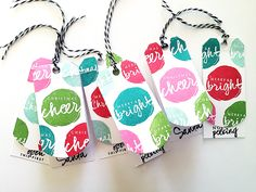 Bright Gift Tag Set by Danielle Flanders for Papertrey Ink (October 2015)