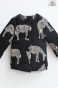Zebra Padded Jacket for Kids