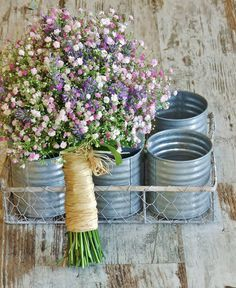 Paniculata Ramo de novia elaborado con Paniculata malva y flor de Lavanda. Tfno: 914115427 www.llorensyduran.eu