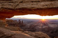 Landmarks Photographs - Mesa Arch Sunrise - Canyonlands National Park - Moab Utah  by Brian Harig