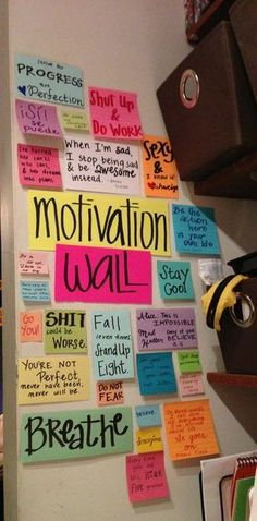 Great Idea! What would you put on your Motivation Wall?