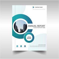Brochure with circular shapes, annual report Free Vector Flyer Design, Design Brochure, Brochure Layout, Brochure Template, Design Folder, Book Cover Design, Book Design, Page Design, Layout Design