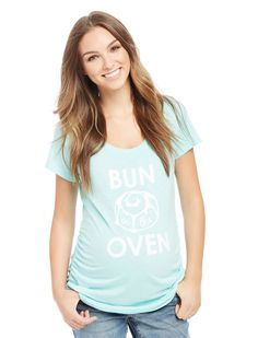 111d6a476 Love this pretty blue maternity tee. Motherhood Maternity · Maternity  Graphic Tees