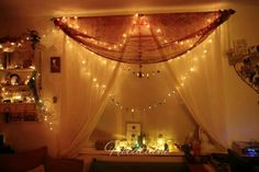 The window dressing in my altar room.