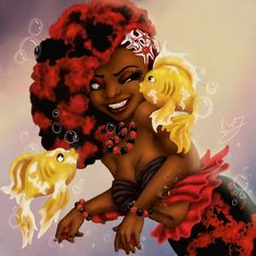 fyblackwomenart:  Kiss The Girl by KiraTheArtist