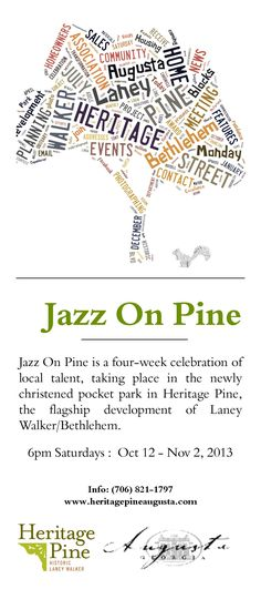 Jazz on Pine - a celebration of the rich musical history of the Laney Walker Bethlehem community. October 2013
