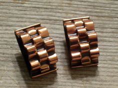 Renoir Basketweave Copper Earrings Vintage RENOIR by TheCopperCat