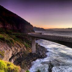 Stunning imagery of the Sea Cliff Bridge. Sea Cliff Bridge, Sydney, Australia, Explore, Country, Water, Outdoor, Gripe Water, Outdoors