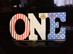 Nautical themed first birthday decoration by @gnotes