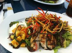 Fine Dining at Las Brisas Restaurant. Grilled Chicken Salad at Las Brisas.  (not an original RE/MAX Evolution picture)  For more information: http://www.yelp.com/biz/las-brisas-restaurant-laguna-beach