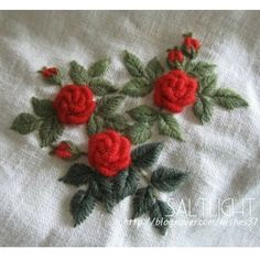 Ribbon Embroidery Kit Europe Flowers in Vase DIY Wall Decor Needle Work Painting Embroidery Fabric, Size Blue - Embroidery Design Guide Hand Embroidery Dress, Floral Embroidery Patterns, Hand Embroidery Tutorial, Rose Embroidery, Silk Ribbon Embroidery, Hand Embroidery Patterns, Embroidery Kits, Embroidery Stitches, Embroidery Designs