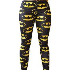 Batman Dc Comic Super Hero Yellow and Black Bat Wing Leggings Pants... ($22) ❤ liked on Polyvore featuring pants, leggings, batman, black, women's clothing, black pants, sexy black pants, yellow leggings, plus size black leggings et comic leggings