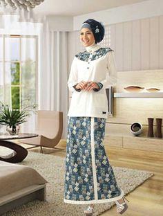 Batik Fashion, Hijab Fashion, Hijab Outfit, Kebaya, Muslim, Classy, Formal, Womens Fashion, Casual
