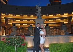 Congratulations to this Andrew and Amanda. They married using one of my affordable elegant strip wedding packages.