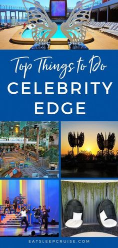 Top Things to Do on Celebrity Edge | EatSleepCruise.com. If you plan to cruise on the Celebrity Edge ship, you'll want to check out these tips and products for fun things to do with kids or adults. You will not check your watches for all of the activities and entertainment to enjoy. #CelebrityEdge #cruise #cruising #cruiseship #cruisehacks #cruisetravel #EatSleepCruise