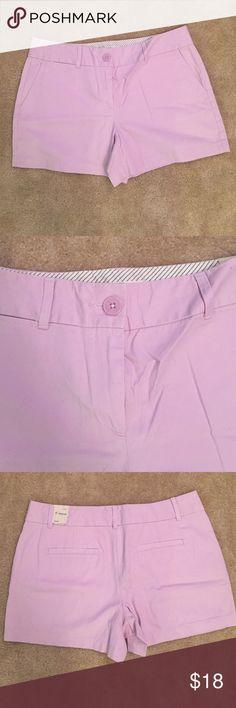 Loft lilac shorts Great color, 4 inch inseam. LOFT Shorts