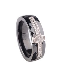 Like and Share if you like & want this  Polished Nano Ceramic with 925 Sterling Silver Cross Wedding Ring     Tag a friend who would love this too!     Shipping Worldwide     Get it here ---> https://mymonsterdeal.com/polished-nano-ceramic-with-925-sterling-silver-cross-wedding-ring/