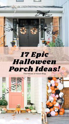 Halloween Porch Decorations, Thanksgiving Decorations, Fall Decorations, Seasonal Decor, Fall Halloween, Halloween 2019, Halloween Ideas, Happy Halloween, Haloween Craft