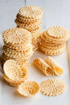 Pizzelle - a light, lovely Italian Cookie flavored with Anise #savingroomfordessert #pizzelle #cookies #italiancookie