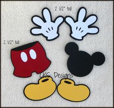 Mickey Mouse Scrapbook Die Cuts