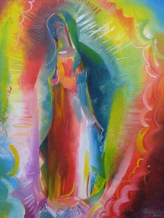 Our Lady Of Guadalupe - Queen Of The Americas Painting PASTEL Mary