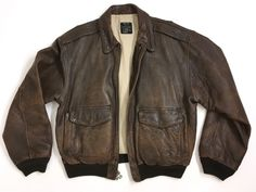 AVIREX Type A-2 Leather Brown Bomber Flight Jacket Size: L | Clothing, Shoes & Accessories, Men's Clothing, Coats & Jackets | eBay!