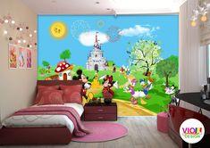 Fototapet Copii Disney Mickey and Friends - VIODesign Mickey And Friends, Disney Mickey, Design, Home Decor, Art, Photo Wallpaper, Art Background, Decoration Home, Room Decor