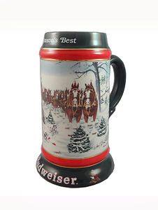 1991 Budweiser Holiday Beer Stein - Cheers!