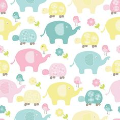 Walmart: Springs Creative Nursery Sweet Meadow Allover, Fabric By the Yard Fabric Crafts, Sewing Crafts, Casual Home Decor, Elephant Fabric, Baby Fabric, Novelty Fabric, Sewing Material, Cute Backgrounds, Baby Scrapbook