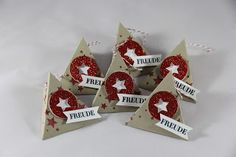 StampinFantasy: Freude Stampin Up, Christmas Ornaments, Holiday Decor, Winter, Boxing, Stamping, Glee, Christmas, Crafting