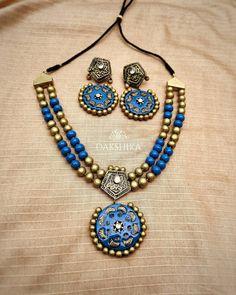 Terracotta Jewellery Making, Terracotta Jewellery Designs, Teracotta Jewellery, Signature Design, Necklace Designs, Clay Jewelry, Necklace Set, Jewelry Design, Jewelry Making