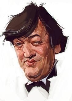 A caricature of Stephen Fry by Russian artist Viktor Miller-Gausa
