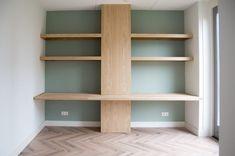 Home Office Design, Living Room Decor, Bookcase, New Homes, Shelves, Furniture, Home Decor, Drawing Room Decoration, Shelving