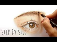 Step by Step | How to draw and color a realistic eye with colored pencils | Emmy Kalia - YouTube
