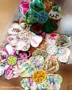 Large Patchwork Flower Kit Hand Sewing by AllThingsPretty on Etsy