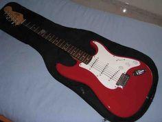 Squier by Fender Bullet Red