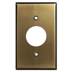 """Single Round Outlet Cover Plates for 1.4"""" Round Receptacles"""