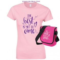 The Best Is Yet To Come, Hard Wear, Gift Sets, Pink Color, Gifts For Women, Unique Gifts, Stylish, Fabric, Cotton
