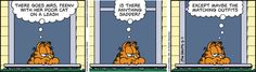 Garfield thinks cats on leash are no fun...