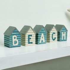 BEACH Mini Beach Huts - CoastalHome.co.uk: Coastal Living