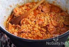 Tarhonyás bográcsos Hungarian Cuisine, Hungarian Recipes, Hungarian Food, Chana Masala, Macaroni And Cheese, Grilling, Recipies, Beans, Food And Drink